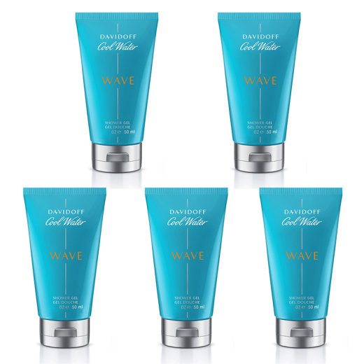 DAVIDOFF Cool Water Wave 5er Set Shower Gel 30ml