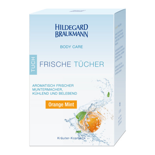 Hildegard Braukmann Body Care Frische Tuch Orange Mint 10...