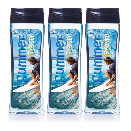 Fresh Summer 3er Set Unisex Duschgel a 250ml