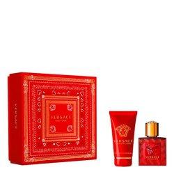 Versace Eros Flame Herren Geschenkset EdP 30ml + DG 50ml