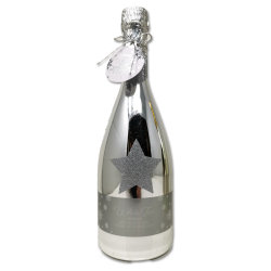Champagner Flasche Silber Premium Bade & Duschgel...